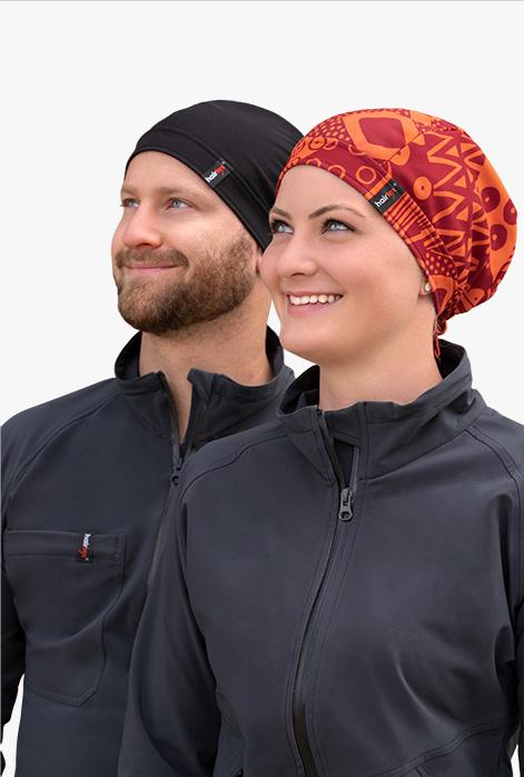 hairtex Stall-Mütze mit Bändern in der Farbe rot